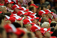 Sydney Swans fans watch the Australian Rules Football ANZAC Day match between St Kilda Saints and Sydney Swans at Westpac Stadium, Wellington, New Zealand on Thursday, 24 May 2013. Photo: Dave Lintott / lintottphoto.co.nz