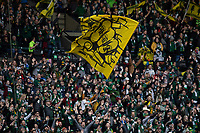 PORTLAND, OR - MARCH 01: The Timbers Army sing during the game during a game between Minnesota United FC and Portland Timbers at Providence Park on March 01, 2020 in Portland, Oregon.