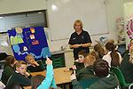 National Poetry Day<br /> <br /> Ysgol Gynradd Gymraeg Pont Si&ocirc;n Norton visit to Welsh Water Education Centre in Cilfynydd.<br /> <br /> 03.10.13<br /> <br /> &copy;Steve Pope-FOTOWALES