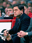 University of Wisconsin assistant Paul Costanzo during the Indiana University game at the Kohl Center on 1/4/01 in Madison, WI.  The Badgers beat Indiana in the Big Ten opener 49-46. (Photo by David Stluka)