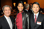From left: Ray Chung, Raquel Bone and Hoang T. Vu at the Heart of Gold Celebration benefitting Neighborhood Centers Inc at the Hilton Americas Hotel Thursday Feb. 25,2010. (Dave Rossman Photo)