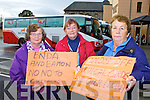 Peggy Fitzgibbon, Mary Murphy both Kenmare and Nancy Hegarty Killarney who traveled to Cork for the protest against the cut backs announced in the budjet to the elderly on Tuesday