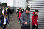 Home supporters making their way towards the ground before Preston North End take on Reading in an EFL Championship match at Deepdale. The home team won the match 1-0, Jordan Hughill scoring the only goal after 22nd minutes, watched by a crowd of 11,174.