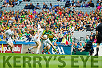 Donnchadh Walsh, Kerry in action against Cathal McNally, Kildare in the All Ireland Quarter Final at Croke Park on Sunday.