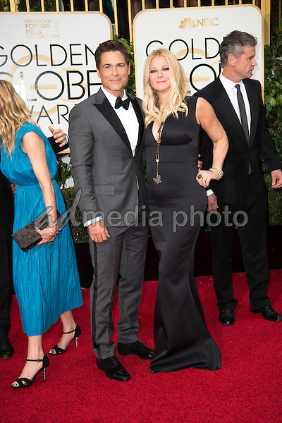 "Nominated for BEST PERFORMANCE BY AN ACTOR IN A TELEVISION SERIES – COMEDY OR MUSICAL for his role in ""The Grinder,"" actor Rob Lowe and Sheryl Berkoff attend the 73rd Annual Golden Globes Awards at the Beverly Hilton in Beverly Hills, CA on Sunday, January 10, 2016. Photo Credit: HFPA/AdMedia"