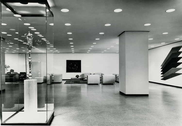 UNDATED..Historical...Downtown South (R-9)..Virginia National Bank Building Interior.SOM Architects..Ezra Stoller.NEG#.NRHA#..