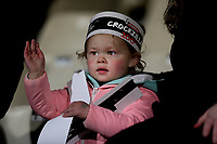 A young fan watches the Super Rugby match between the Crusaders and Highlanders at Wyatt Crockett Stadium in Christchurch, New Zealand on Friday, 06 July 2018. Photo: Martin Hunter / lintottphoto.co.nz