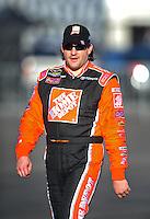 Feb 29, 2008; Las Vegas, NV, USA; NASCAR Sprint Cup Series driver Tony Stewart during qualifying for the UAW Dodge 400 at Las Vegas Motor Speedway. Mandatory Credit: Mark J. Rebilas-US PRESSWIRE