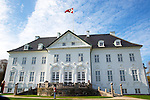 16-04-2014 Balcony Marselisborg Castle in Aarhus. <br /> <br /> <br /> <br /> Credit: PPE/face to face<br /> - No Rights for Netherlands -
