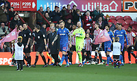 Bolton Wanderers' David Wheater leads out the team<br /> <br /> Photographer Rob Newell/CameraSport<br /> <br /> The EFL Sky Bet Championship - Brentford v Bolton Wanderers - Saturday 22nd December 2018 - Griffin Park - Brentford<br /> <br /> World Copyright © 2018 CameraSport. All rights reserved. 43 Linden Ave. Countesthorpe. Leicester. England. LE8 5PG - Tel: +44 (0) 116 277 4147 - admin@camerasport.com - www.camerasport.com