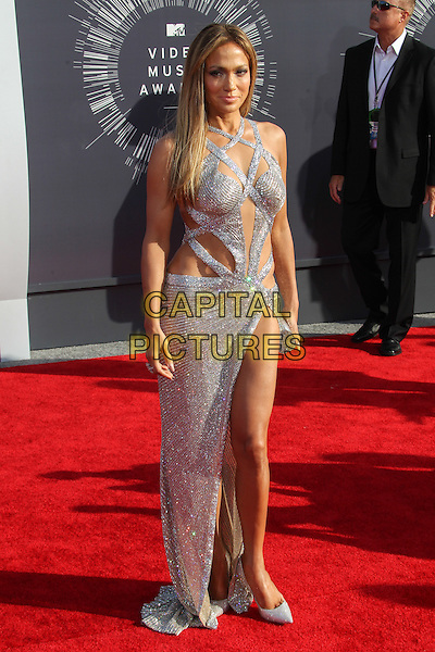 INGLEWOOD, CA - AUGUST 24: Jennifer Lopez attending the 2014 MTV Video Music Awards held at The Forum in Inglewood, California on August 24th, 2014. Photo Credit:  <br /> CAP/MPI/RTNUPA<br /> &copy;RTNUPA/MPI/Capital Pictures