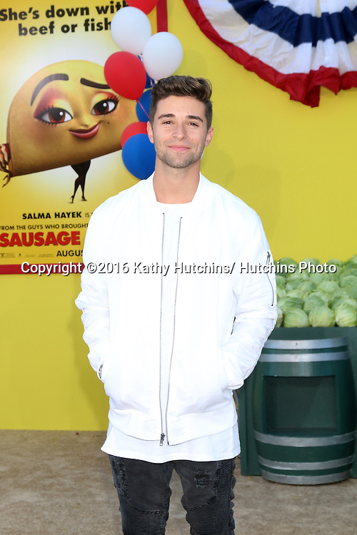 "LOS ANGELES - AUG 9:  Jake Miller at the ""Sausage Party"" Premiere at the Village Theater on August 9, 2016 in Westwood, CA"