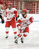Taylor Holze (BU - 24) - The Boston University Terriers defeated the visiting Northeastern University Huskies 3-0 on Tuesday, December 7, 2010, at Walter Brown Arena in Boston, Massachusetts.