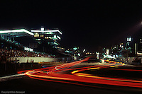Front straight at night during the 1984 24 Hours of Le Mans, Le Mans, France.