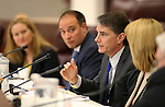Nevada Economic Forum Chair Ken Wiles talks during a meeting at the Legislative Building in Carson City, Nev., on Friday, May 1, 2015. <br /> Photo by Cathleen Allison