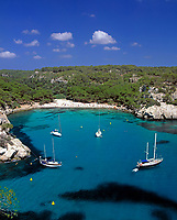 ESP, Spanien, Balearen, Menorca, Cala Macarella: paradiesische Badebucht im Sueden | ESP, Spain, Balearic Islands, Menorca, Cala Macarella: bay and beach in the south