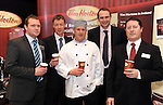 31-01-12: Kevin Fitzgerald, Clive Davison, Alan Lawlor, BWG, Niall Cogan and Ger Hurley, Cuisine de France at  the  BWG Foods retailer meeting and exhibition   in the Radisson Little Island, Cork . Picture: MacMonagle, Killarney