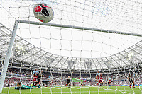 GOAL - Raheem Sterling of Manchester City scores his hat-rick goal during the Premier League match between West Ham United and Manchester City at the London Stadium, London, England on 10 August 2019. Photo by David Horn.