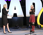 "Julie Halston hosts First Look with Sophia Anne Caruso previewing ""Beetlejuice"" during BroadwayCon at New York Hilton Midtown on January 13, 2019 in New York City."