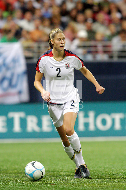 USA (2) Marian Dalmy. The United States Women's National Team defeated Mexico 5-1 in an international friendly at the Edward Jones Dome in St Louis, MO on October 13, 2007.