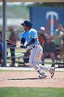 Tampa Bay Rays catcher Ronaldo Hernandez (50) during a Minor League Spring Training game against the Minnesota Twins on March 15, 2018 at CenturyLink Sports Complex in Fort Myers, Florida.  (Mike Janes/Four Seam Images)