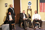 Guiding Light's Lawrence Saint-Victor, Melvin Huffnagle, author Layon Gray, Thom Scott II star in Black Angels Over Tuskegee on January 24, 2011 at the Actors Temple Theatre, New York City, New York. (Photo by Sue Coflin/Max Photos)