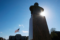 Stephen D. Lee statue Drill Field<br />  (photo by Megan Bean / &copy; Mississippi State University)