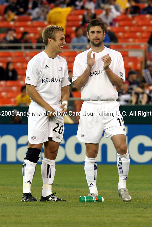 23 April 2005: Taylor Twellman (20) and Pat Noonan (11). The New England Revolution defeated DC United 4-3 at RFK Stadium in Washington, DC in a regular season Major League Soccer game. .