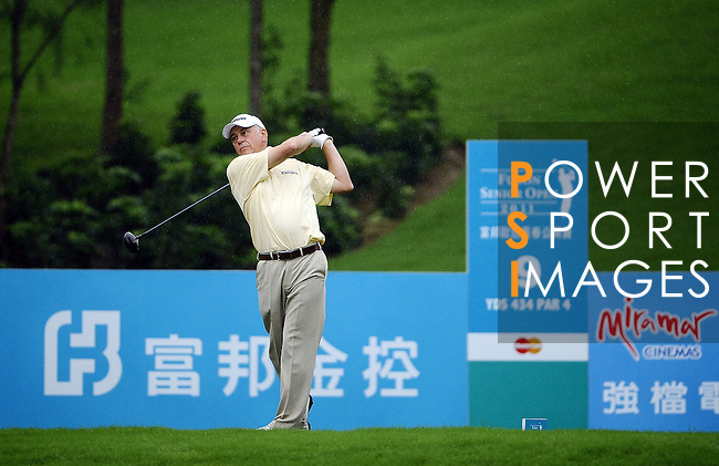 TAIPEI, TAIWAN - NOVEMBER 19:  Bob Cameron of England tees off on the 9th tee during day two of the Fubon Senior Open at Miramar Golf & Country Club on November 19, 2011 in Taipei, Taiwan.  Photo by Victor Fraile / The Power of Sport Images