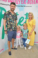 "LONDON, ENGLAND - AUGUST 08: Alex Goward, Laura Hamilton and their kids at the ""Peter Pan"" production press performance, Troubadour White City Theatre, Wood Lane, on Saturday 27 July 2019 in London, England, UK.<br /> CAP/CAN<br /> ©CAN/Capital Pictures"