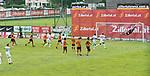 12.07.2017, Sportplatz, Zell am Ziller, AUT, TL Werder Bremen 2017 - FSP Werder Bremen (GER) vs Wolverhampton Wanderers (ENG), <br /> <br /> im Bild<br /> Freistoss von Zlatko Junuzovic (Werder Bremen #16) in der 80. minute an die Latte gegen Harry BURGOYNE (Wolverhampton Wanderers #31)<br /> <br /> Foto &copy; nordphoto / Kokenge