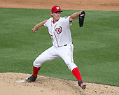 Washington Nationals starting pitcher Stephen Strasburg (37) works in the fifth inning against the Chicago Cubs at Nationals Park in Washington, D.C. on Wednesday, June 15, 2016.  The Nationals won the game 5 - 4 in 12 innings.<br /> Credit: Ron Sachs / CNP