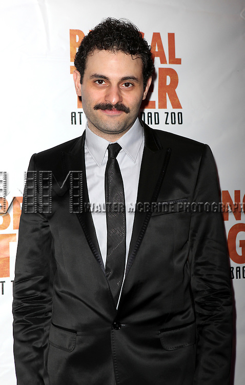 Arian Moayed.attending the Broadway Opening Night After Party for 'Bengal Tiger at the Baghdad Zoo' at espace in New York City