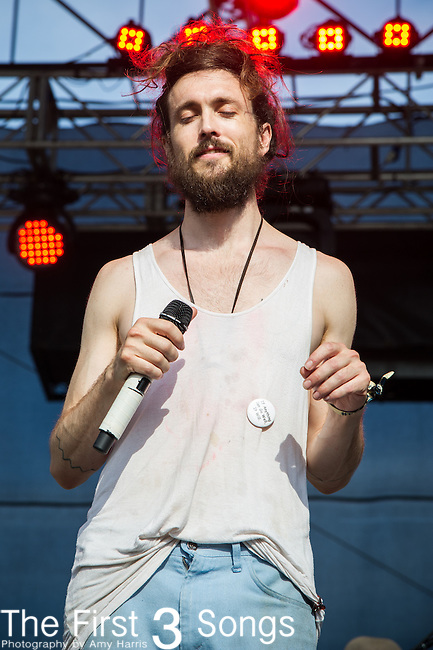 Alex Ebert of Edward Sharpe and the Magnetic Zeros performs during Day 2 of the 2013 Firefly Music Festival in Dover, Delaware.