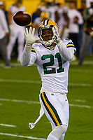 Green Bay Packers safety Ha Ha Clinton-Dix (21) during a National Football League game against the Chicago Bears on September 28, 2017 at Lambeau Field in Green Bay, Wisconsin. Green Bay defeated Chicago 35-14. (Brad Krause/Krause Sports Photography)