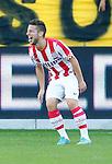 Nederland, Venlo, 30 september 2012.Eredivisie.Seizoen 2012-2013.VVV Venlo-PSV.Dries Mertens van PSV, steekt zijn tong uit nadat hij de 0-2 heeft gescoord.
