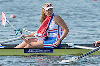 Rotterdam. Netherlands. <br /> GBR W4-, Gold Medalist, Bow. Fiona GAMMOND, Donna<br /> ETIEBET, Holly NIXON and Holly<br /> NORTON,    {WRCH2016}  at the Willem-Alexander Baan.   Saturday  27/08/2016 <br /> <br /> [Mandatory Credit; Peter SPURRIER/Intersport Images]