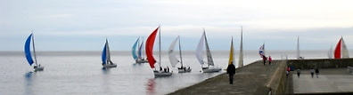 There were gliding and tide-dodging conditions for the 20 cruisers which turned out on Wednesday night
