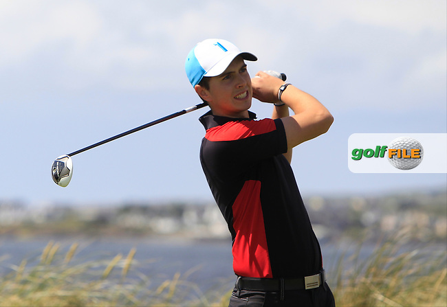 Andrew McCormack (Newcastle West) on the 4th tee during Round 2 of the South of Ireland Amateur Open Championship at LaHinch Golf Club on Thursday 23rd July 2015.<br /> Picture:  Golffile | Thos Caffrey