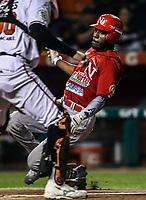 Randy Arozarena de los mayos anota carrera, durante juego de beisbol de la Liga Mexicana del Pacifico temporada 2017 2018. Tercer juego de la serie de playoffs entre Mayos de Navojoa vs Naranjeros. 04Enero2018. (Foto: Luis Gutierrez /NortePhoto.com)