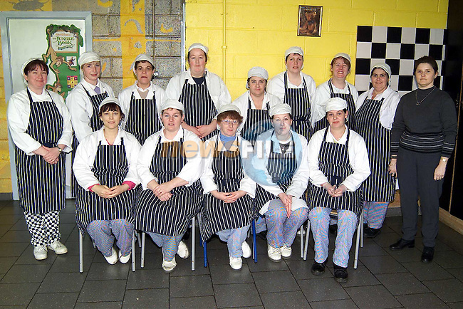 Shirley Keeley, superviser and Rosemary Duff, assistant superviser with staff in St. John's and St. Paul's breakfast club..Picture: Paul Mohan/Newsfile