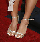 """Actress Jenna Dewan 's shoes at the """"Iron Man"""" premiere at Grauman's Chinese Theatre on April 30, 2008 in Hollywood, California."""
