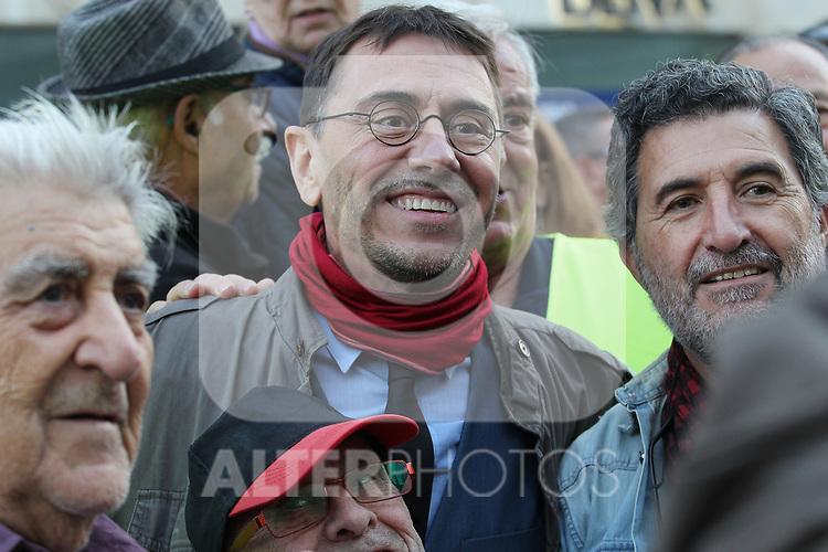Juan Carlos Monedero is seen at the march of pensioners at Puerta del Sol on October 15, 2019 in Madrid, Spain.(ALTERPHOTOS/ItahisaHernandez)