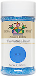10258 Nature's Colors Blue Decorating Sugar, Small Jar 3.3 oz