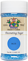 India Tree Nature's Colors natural Blue Decorating Sugar, India Tree Decorating Sugar, natural sprinkles made with natural food color from plant-based ingredients