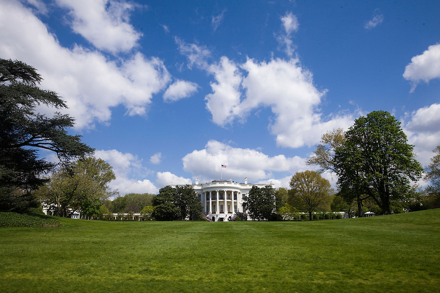 The south facade of the White House in Washington, DC...Photo by Brooks Kraft/Corbis..