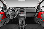 Straight dashboard view of a 2009 - 2012 Citroen C1 Airplay 5-Door Micro Car Hatchback