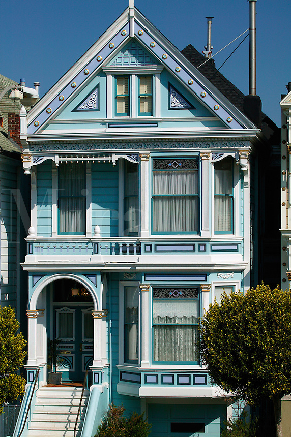 Victorian homes near Alamo Square Park, San Francisco, California