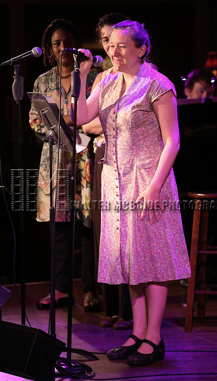 Lynn Nottage and Sarah Ruhl attend 2017 New York Drama Critics' Circle Awards Reception at Feinstein's/54 Below on May 18, 2017 in New York City.