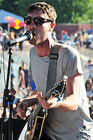 Jared Swilley from Georgia based Garage Punk rockers The Black Lips performs at The Pool Parties Concert Series at McCarren Park , Brooklyn NY